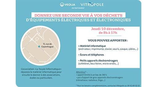 Jeudi 10 décembre : collecte gratuite des DEEE